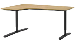 [FURN_1118] Corner Desk Black